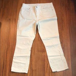 Size 12 LOFT mint colored cropped jeans